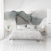 Load image into Gallery viewer, Grey abstract bedroom wall mural