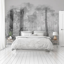 Load image into Gallery viewer, Monochrome Forest bedroom wall mural