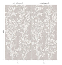 Load image into Gallery viewer, Romantic grey Chinoiserie bedroom wallpaper
