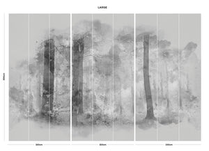 Monochrome Forest bedroom wall mural