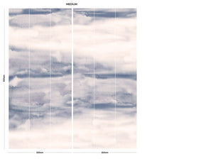 Subtle Abstract cloud bedroom wall mural