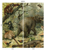 Load image into Gallery viewer, Vintage Animal bedroom wall mural
