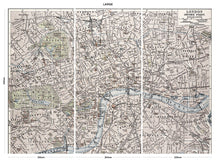 Load image into Gallery viewer, Vintage London Map bedroom wall mural