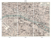 Load image into Gallery viewer, Vintage Paris Map bedroom wall mural