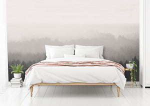 GreyVintage Forest bedroom wall mural