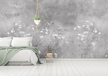 Load image into Gallery viewer, Monochrome Vintage Flower bedroom wall mural