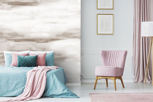 Cream cloud bedroom wall mural