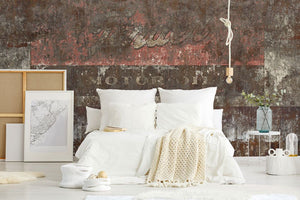 Shabby Americana bedroom wall mural