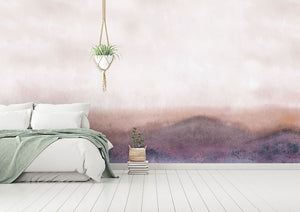 Orange Abstract Forest bedroom wall mural