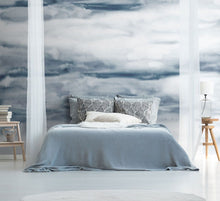 Load image into Gallery viewer, Blue cloud watercolour bedroom wall mural