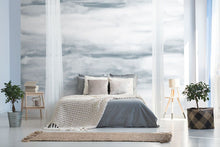 Load image into Gallery viewer, Grey abstract cloud bedroom wall mural