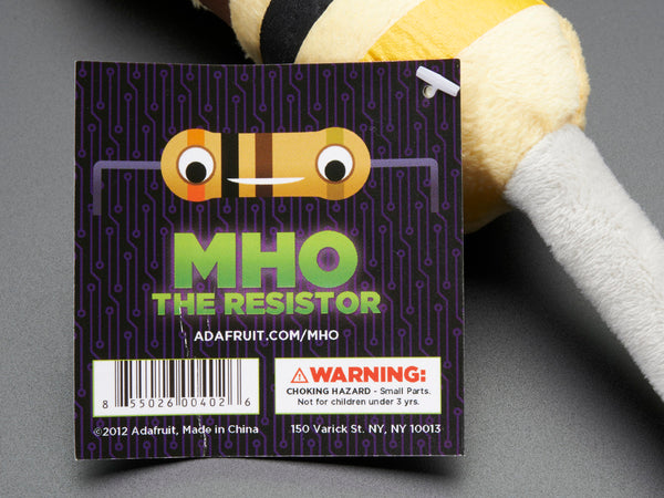 Mho the Resistor - 抵抗のぬいぐるみ