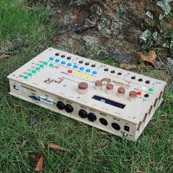 LXR Drum Synthesizer (ULU Electrico tune-up) Wooden Enclosure