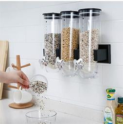 Kitchen Storage Cans - Cereal Boxes Household Snacks Melon Seeds Nuts Candy Dispenser Sealed