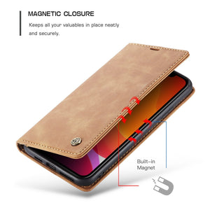2020 Luxury Leather-Style CaseMe For Samsung Wallet Kickstand Magnetic Flip Leather Case