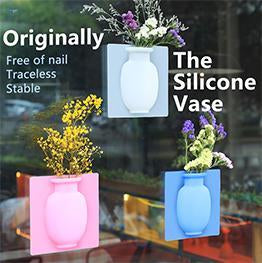 Magic Silicone Vase - Strong Sticky Flower Pot & Good Home Decoration