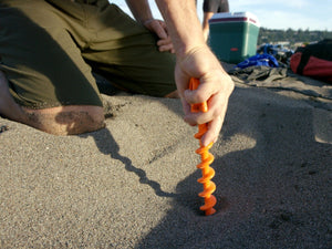 Today only $2.99 !!!! Orange Screw Ground Anchors
