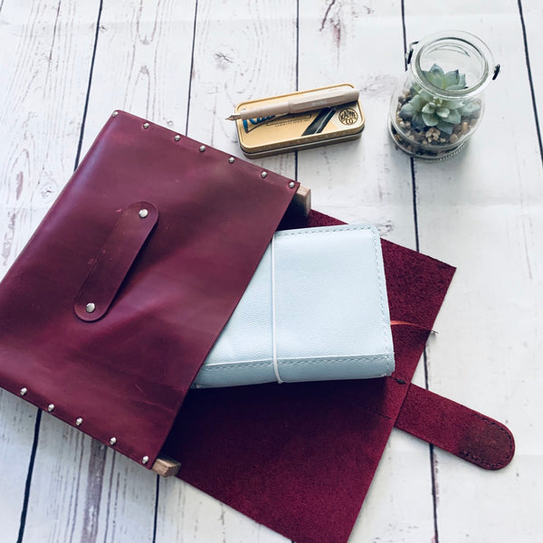Wine Red Writing Case