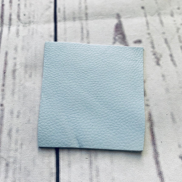 Pastel Blue Pebble  Leather Journal Tabs