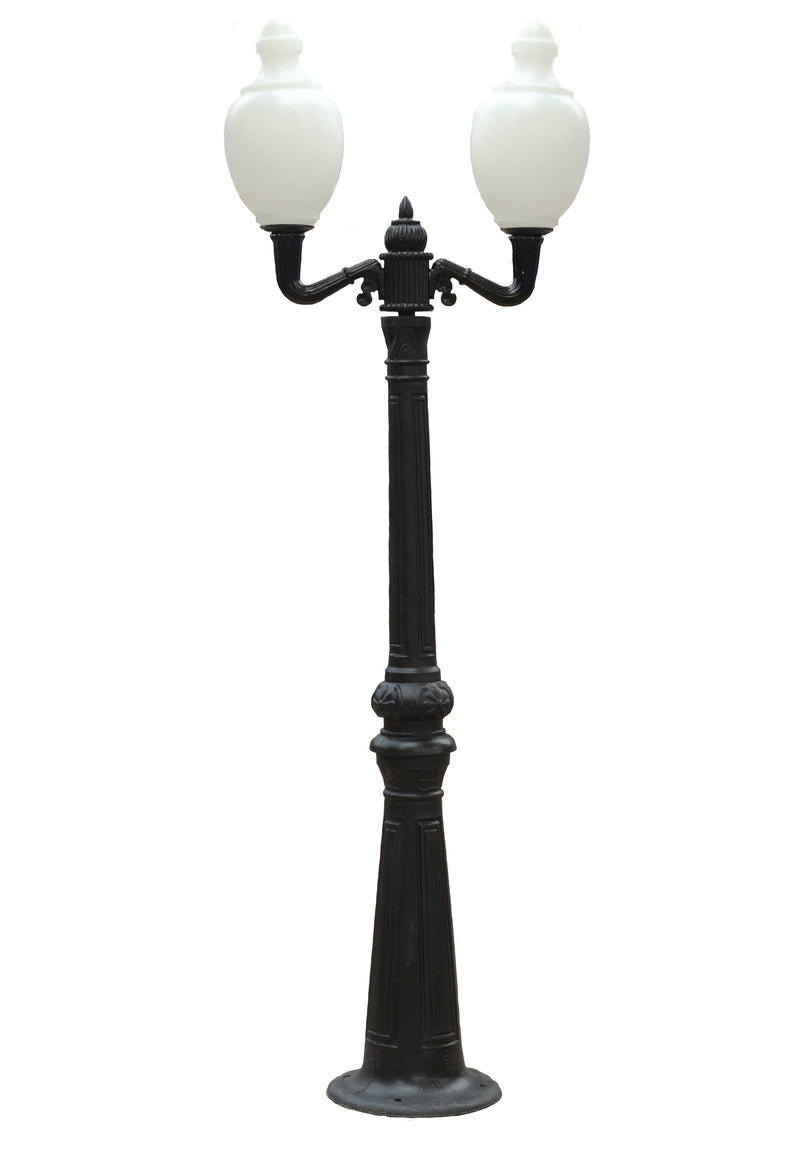 "2x Garden Light Mashal 27"" with Polypole 8.5 feet & 2-way fitting"