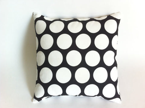 Cushion - white dot on black