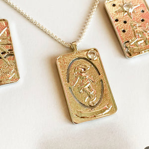 Tarot Card - Silver Necklace