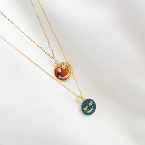Smiley - Gold Plated Layering Set