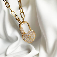 Load image into Gallery viewer, Heart Lock - Golden Necklace