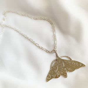 Limited Edition Celestial Moth - Sterling Silver Pendant