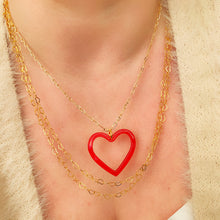 Load image into Gallery viewer, Red Heart - Gold Necklace
