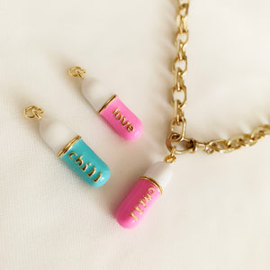Chill / Love / Hope Pill - Necklace