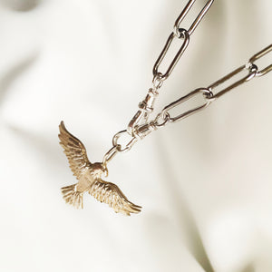 Pure Spirit Eagle - Sterling Silver Pendant (2 chain options)