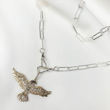 Load image into Gallery viewer, Pure Spirit Eagle - Sterling Silver Pendant (2 chain options)