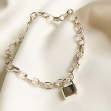 Load image into Gallery viewer, Mini Lock - Sterling Silver Bracelet