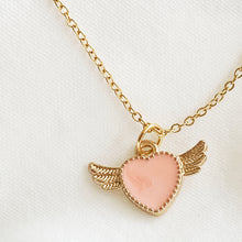 Load image into Gallery viewer, Wings of Love - Brass Necklace