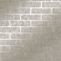 Milan Brick Taupe Wallpaper