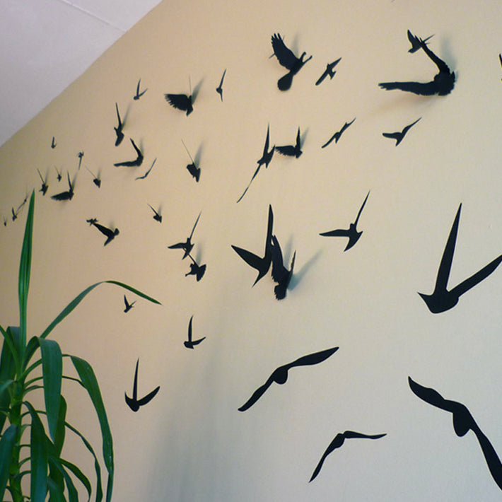 3D Birds wall art