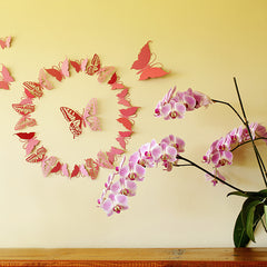 3D Butterflies wall art