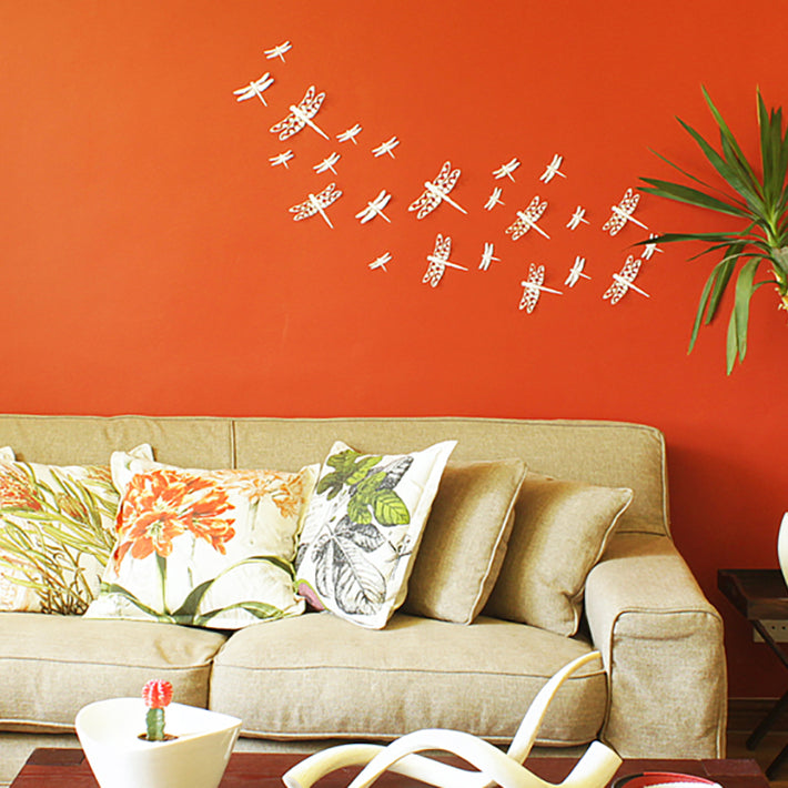 3D Dragonflies wall art
