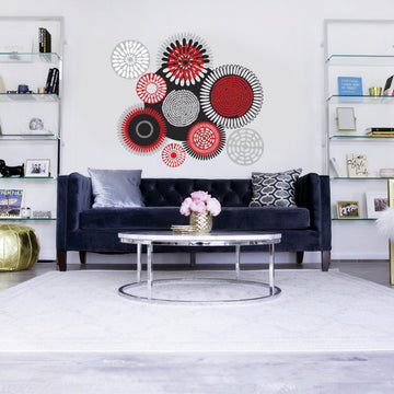 African Circles vinyl wall art