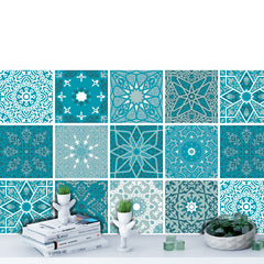 Arabesque Teal - vinyl wall tiles