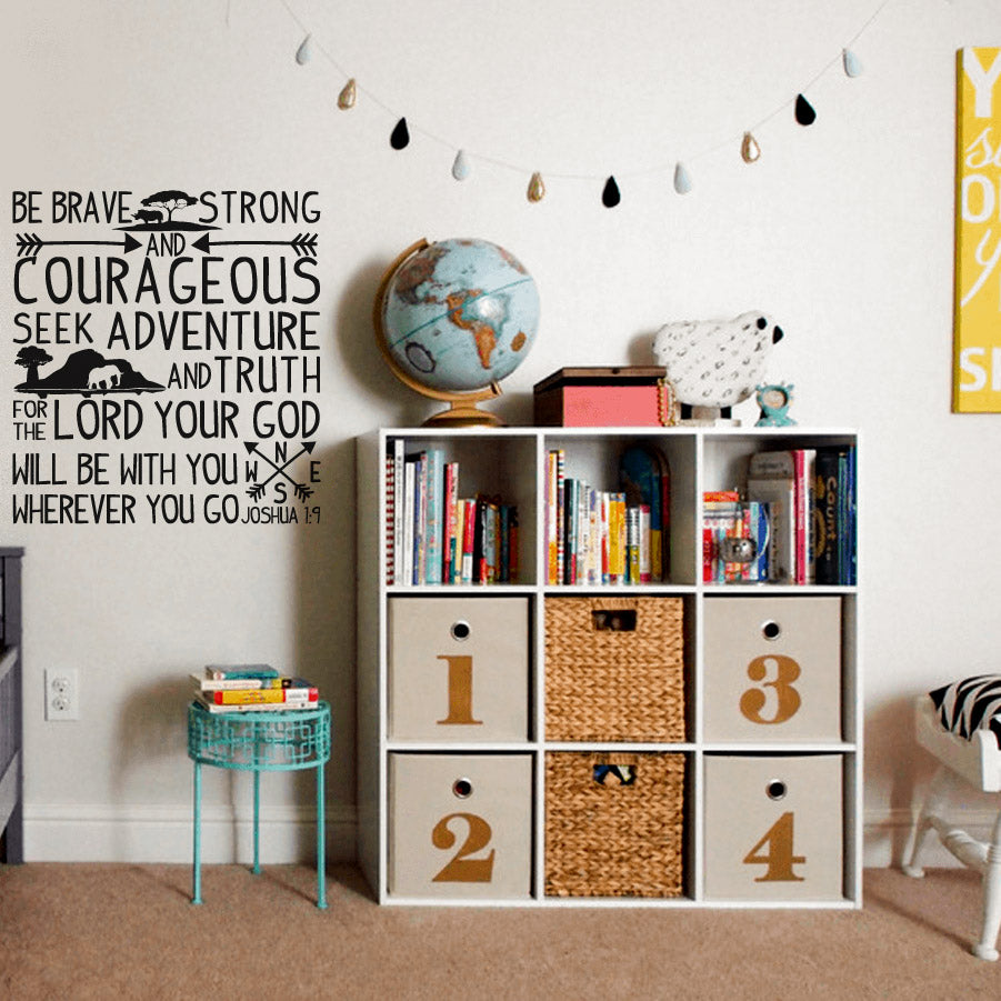 Be Brave Quote - vinyl wall stickers