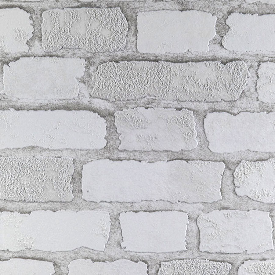 Carnaby Street White Brick Wallpaper