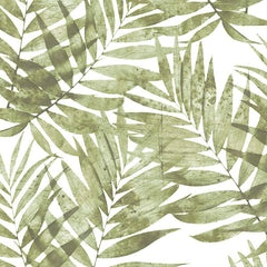 Palm Leaves Green Wallpaper