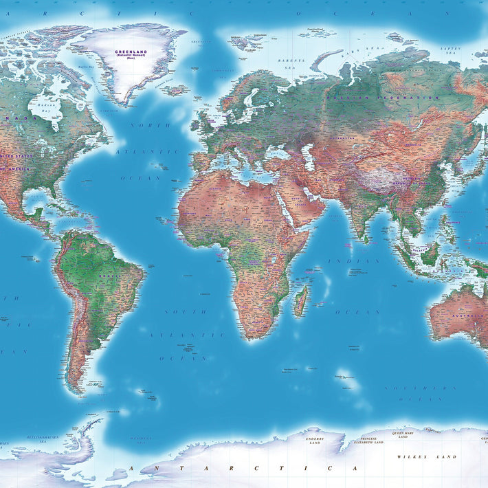 Natural Earth Colour  -  Map