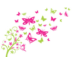 Butterfly Tree vinyl wall stickers