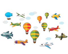 Aviation vinyl wall stickers