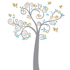 Birdy Tree vinyl wall art