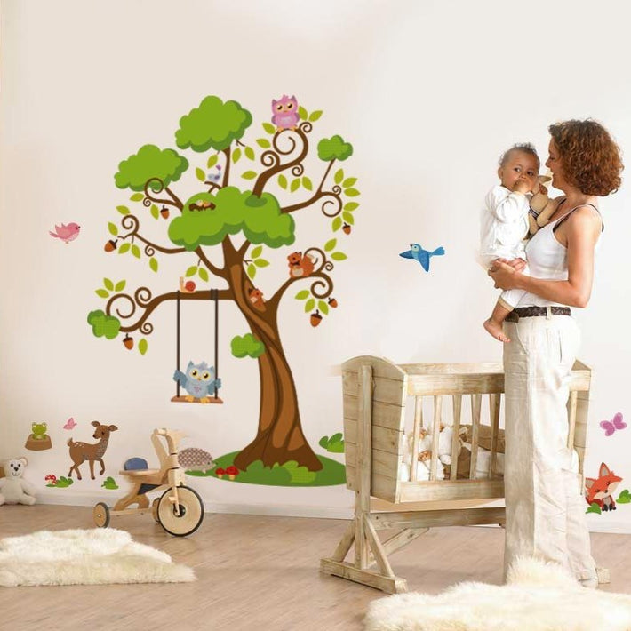 Woodlands Forest Tree Vinyl Wall Sticker