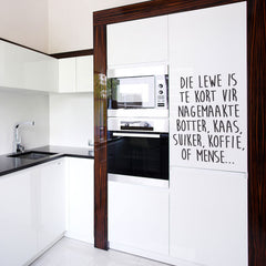 Nagemaakte quote - vinyl wall poetry
